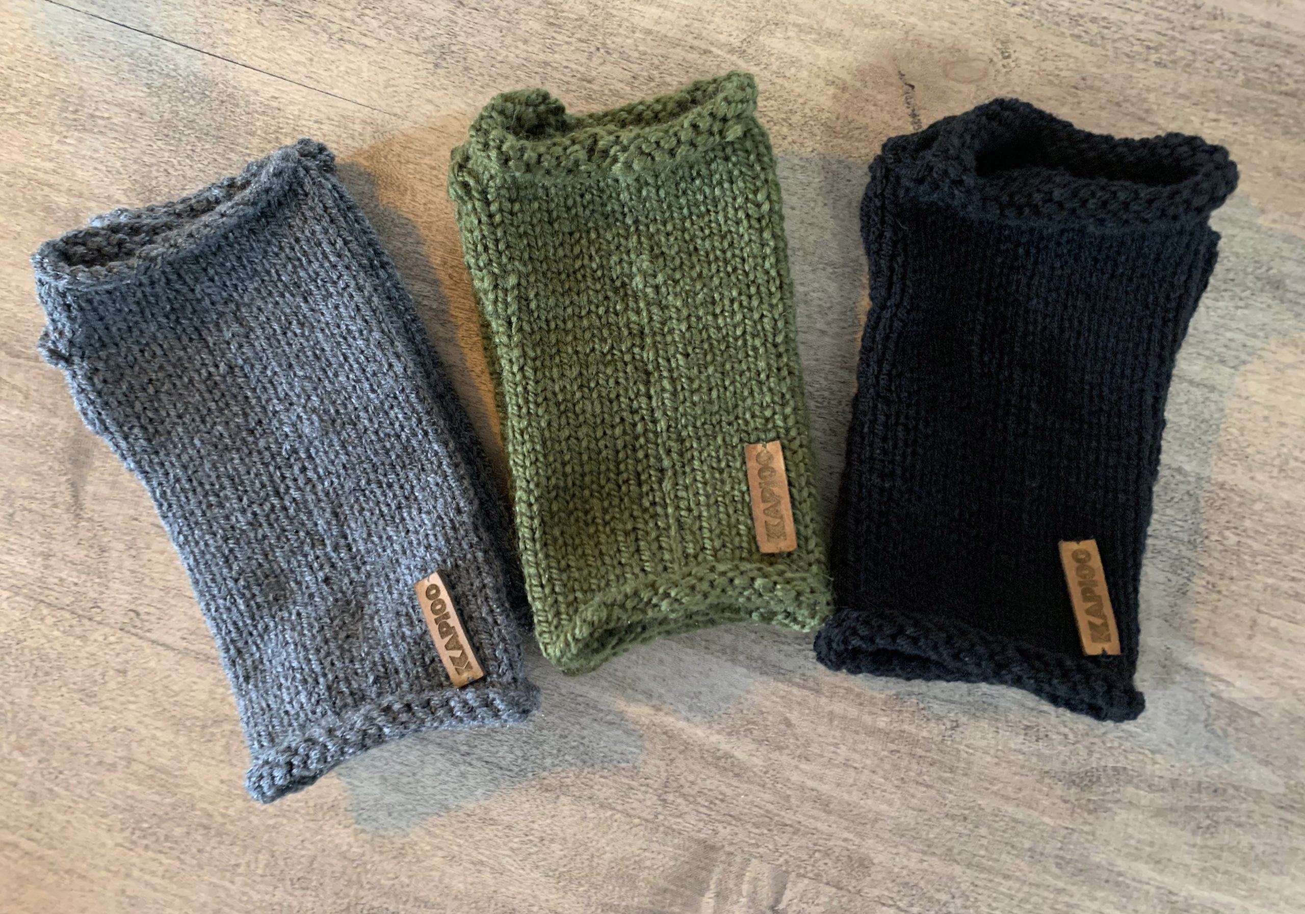 All 3 color fingerless gloves
